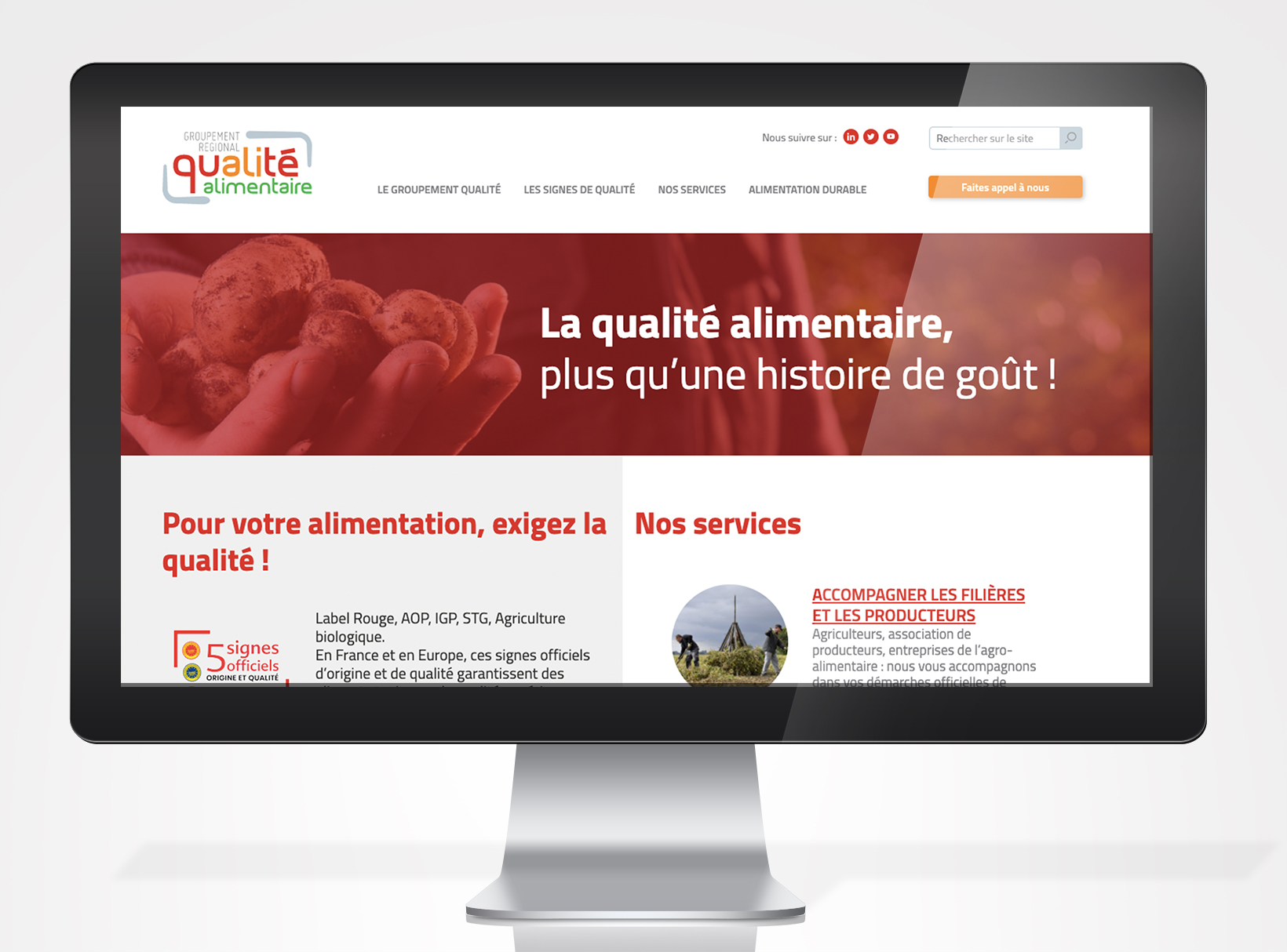 Site web Qualimentaire